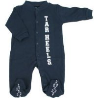 North Carolina Tar Heels Infant Footsie Pajamas