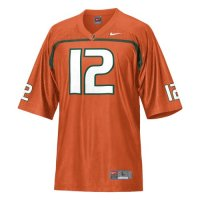 Miami Hurricanes Youth Football Jersey - Nike Replica Gameday Jersey - Orange #12