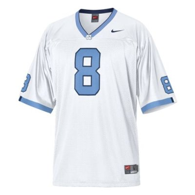 outlet store cdb88 49e20 North Carolina Tar Heels Youth Football Jersey - Nike Replica Gameday  Jersey - White #8