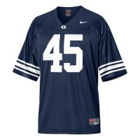 Byu Cougars Youth Football Jersey - Nike Replica Gameday Jersey - Navy #45