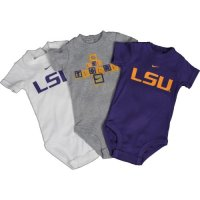 Lsu Tigers Nike Infant 3-pack Creeper Set
