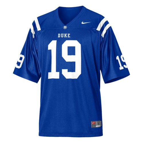 cheap for discount b7cce f7ca5 Duke Blue Devils Youth Football Jersey - Nike Replica Gameday Jersey -  Royal #19