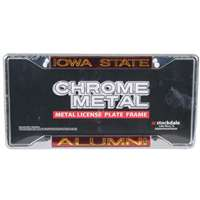 Iowa State Cyclones Metal Alumni Inlaid Acrylic License Plate Frame