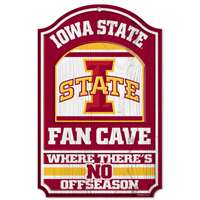 Iowa State Cyclones Fan Cave Wood Sign