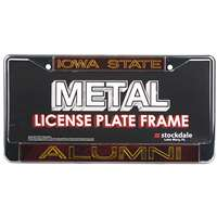 Iowa State Cyclones Metal Alumni Inlaid Acrylic License Plate Frame - Alternate