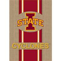 "Iowa State Cyclones Burlap Flag - 12.5"" x 18"""