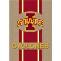 "Iowa State Cyclones Burlap Flag - 28"" x 44"""
