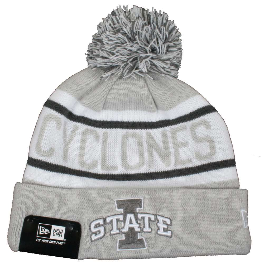 more photos 5547c 45e7c ... reduced iowa state cyclones new era biggest fan knit beanie graphite  7d27a 385af