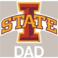 Iowa State Cyclones Transfer Decal - Dad