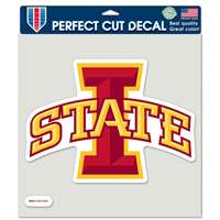 "Iowa State Cyclones Full Color Die Cut Decal - 8"" X 8"""