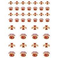 Iowa State Cyclones Small Sticker Sheet - 2 Sheets