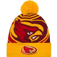 Iowa State Cyclones New Era Logo Whiz 2 Pom Knit Beanie