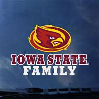 Iowa State Cyclones Transfer Decal - Family