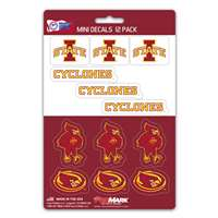 Iowa State Cyclones Mini Decals - 12 Pack