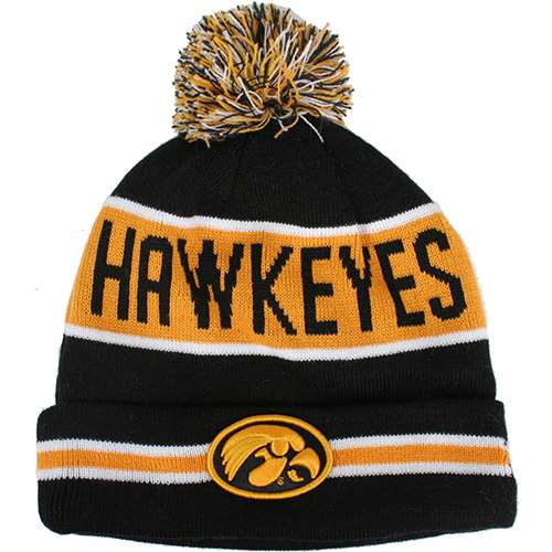 4101d387b58 Iowa Hawkeyes New Era The Coach Pom Knit Beanie