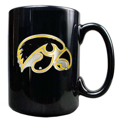 Iowa Hawkeyes 15oz Black Ceramic Mug