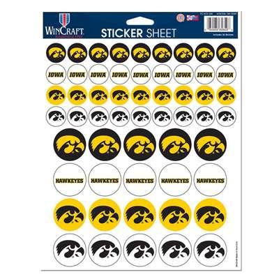 Iowa Hawkeyes Vinyl Sticker Sheet 56 Stickers