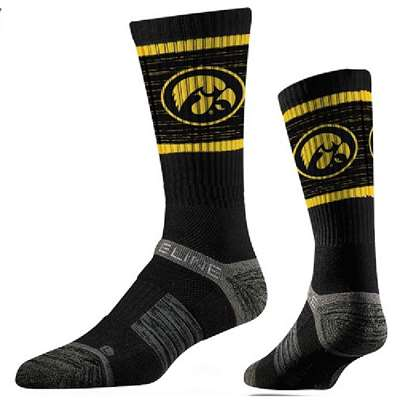 Iowa Hawkeyes Strideline Premium Crew Sock - Heather Black