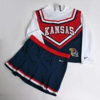 Kansas Jayhawks Toddler 2-piece Short Sleeve Cheerleader Outfit By Nike