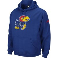 Adidas Kansas Jayhawks Playbook Fleece Hooded Sweatshirts - Royal