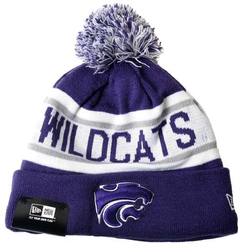 timeless design fcbc0 74410 Kansas State Wildcats New Era Biggest Fan Knit Beanie