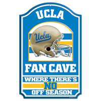 UCLA Bruins Fan Cave Wood Sign