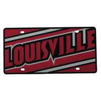 Louisville Cardinals Full Color Mega Inlay License Plate