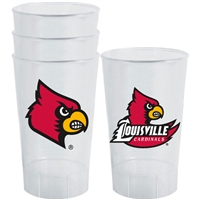 Louisville Cardinals Plastic Tailgate Cups - Set of 4