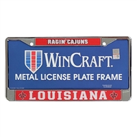 Louisiana Lafayette Ragin Cajuns Metal License Plate Frame w/Domed Acrylic