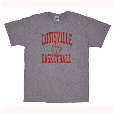 Louisville t shirt basketball heather for Louisville t shirt printing
