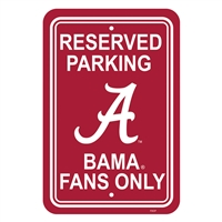 Alabama Crimson Tide Parking Sign - Plastic