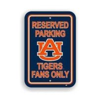 Auburn Tigers Plastic Parking Sign