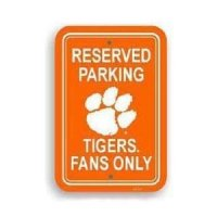 Clemson Plastic Parking Sign