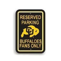 Colorado Buffaloes Plastic Parking Sign