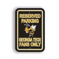 Georgia Tech Plastic Parking Sign