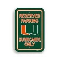 Miami Plastic Parking Sign