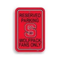 North Carolina State Plastic Parking Sign