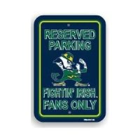 Notre Dame Plastic Parking Sign