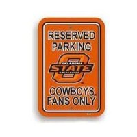Oklahoma State Plastic Parking Sign