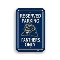 Pittsburgh Panthers Plastic Parking Sign