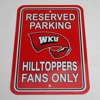 Western Kentucky Plastic Parking Sign