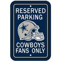 Dallas Cowboys Plastic Parking Sign