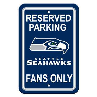 Seattle Seahawks Plastic Parking Sign
