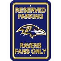 Baltimore Ravens Fan Parking Sign