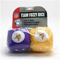 Minnesota Vikings Fuzzy Dice