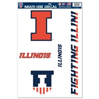 Illinois Ultra Decal - 11'' X 17''