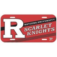 Rutgers Plastic License Plate