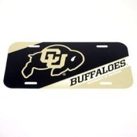 Colorado Buffaloes Plastic License Plate