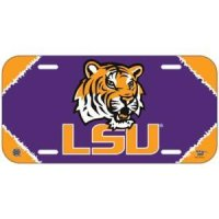 Lsu Plastic License Plate