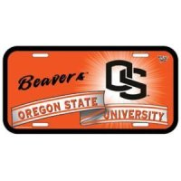 Oregon State Plastic License Plate